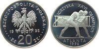 20 Zlotych 1995 Polen Ag Olympiade Ringen pp  52,50 EUR  zzgl. 6,00 EUR Versand