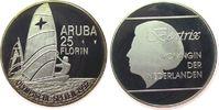 25 Florin 1992 Aruba Ag Olympische Spiele, Windsurfer, etwas angelaufen... 30,00 EUR  zzgl. 3,95 EUR Versand