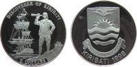 5 Dollar 1996 Kiribati Ag Entdeckung von Kiribati, Segelschiff pp  25,00 EUR  zzgl. 3,95 EUR Versand