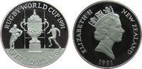 5 Dollar 1991 Neuseeland Ag Rugby Worldcup pp  30,00 EUR  zzgl. 3,95 EUR Versand