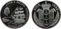 10 Dollar 1992 Niue Ag Cook, Segelschiff im Pazifik pp  35,00 EUR  zzgl. 3,95 EUR Versand