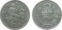 1 Sol 1865 Peru Ag sitzende Freiheit, YB, kleine Randfehler ss  25,00 EUR  zzgl. 3,95 EUR Versand