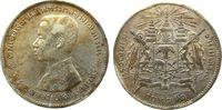 Thailand 1 Baht Ag Rama V, 1876-1900, Prüfkerbe