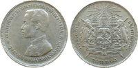 Thailand 1 Baht Ag Rama V, 1876-1900, kleinere Randfehler