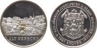 Städte Medaille Silber Herborn (Hessen) - auf die 650 Jahrfeier, Stadtansicht / Wappen, ca. 39 M