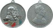 Frankfurt tragbare Medaille Aluminium teilemailliert XI. Deutsches Turnfest in Frankfurt, Büste Friedrich Wi