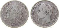 Frankreich 2 Francs Ag Napoleon III, A (Paris)