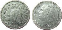 Frankreich 1/2 Franc Ag Louis XVIII, A (Paris)