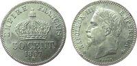 Frankreich 50 Centimes Ag Napoleon III, BB (Strasbourg)