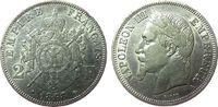 Frankreich 2 Francs Ag Napoleon III, A (Paris), Randfehler