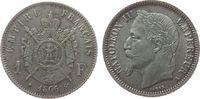 Frankreich 1 Franc Ag Napoleon III, A (Paris)
