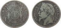 Frankreich 1 Franc Ag Napoleon III, K (Bordeaux)