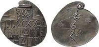 Neujahr Medaille Weißmetallguß Neujahr 2000 - Balance halten, Schrift: