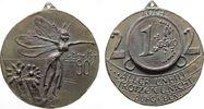 Neujahr Plakette Weißmetallguß Neujahr 2002 - Biene Maja, eine 1 Euro Münzen Schrift: