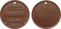 Reformation / Religion Medaille Böttger Steinzeug Hannover - auf den 20. Deutschen Evangelischen Kirchentag, ca.