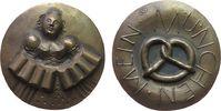 München Medaille Bronze München - auf das Oktoberfest, Wiesnbedienung mit 8 Maß Bier / Brezel, v.