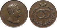 vor 1914 Medaille Bronze Carl August (1775-1828) - auf seinen Tod, Sachsen-Weimar-Eisenach, Büste