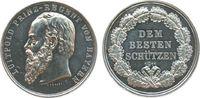 Schützen Schießprämie Silber Luitpold (1886-1912), Bayern, dem besten Schützen, 1911 (Punze), v. A. Bö
