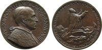 Vatikan Medaille Bronze Pius XII (1939-1958), ANNO XIII, auf die Seligsprechung von Pius X, v.A.