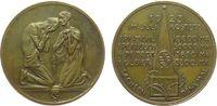 Weimarer Republik Medaille Bronze Not, zwei knieende Personen / Lebensmittelpreise im Juli 1923, v. F.W. Hö