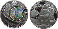 Weißrußland 20 Rubel Ag Segelschiff USS Constitution, USA, mit Hologramm