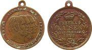 vor 1914 tragbare Medaille Bronze Dreikaiserjahr, Büsten Wilhelm I - Friedrich III und Wilhelm II nach rech