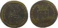 Jetons Rechenpfennig Messing Laufer Conrad (1637-1668), Büste Louis XIII mit Lockenperücke / gekrönte