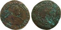 Niederlande Rechenpfennig Kupfer Karl II von Spanien (1665-1700), Brüssel, Finanzkammer, Brustbild nach re