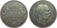 Ungarn 5 Kronen Ag Franz Joseph I, J407