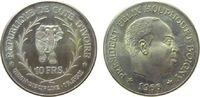 Elfenbeinküste 10 Francs Ag Elefant, Felix Houphouet Boigny
