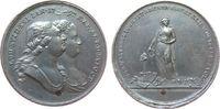 Frankreich Medaille Zinn Louis XVI. (1774-1793) - auf den Tod des Königspaares, die Brustbilder von