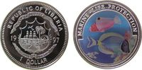 Liberia 1 Dollar KN Doktorfische, Farbmünze