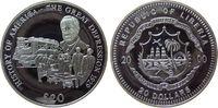 Liberia 20 Dollars Ag Weltwirtschaftskrise von 1929, etwas fleckig, feine Handlingsmarken
