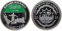 Liberia 10 Dollar -- Saudi Arabien, Fußball, coloriert