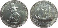 USA 1/2 Dollar Ag Pilgrim, winziger Randfehler