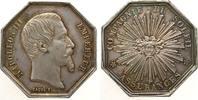 Frankreich Jeton Silber Napoleon III Empereur Compagnie du Solei, Versicherung Assurances, v. Caq
