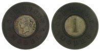 Großbritannien 1 Penny Model -- Victoria, Probe, Joseph Moore, Birmingham