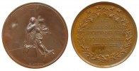 Reformation / Religion Medaille Bronze Glaube, heilige Maria mit Kreuz auf Sockel / Mehrzeiler: auf zu der Stern