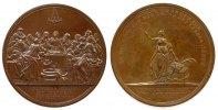 Reformation / Religion Medaille Bronze Konfirmation, Abendmahlszene / personifizierte Religion hält in der recht