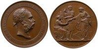 Franz Josef I (1848-1916) Medaille Bronze Franz Joseph I (1848-1916), für Verdienste, Büste nach rechts / Industria