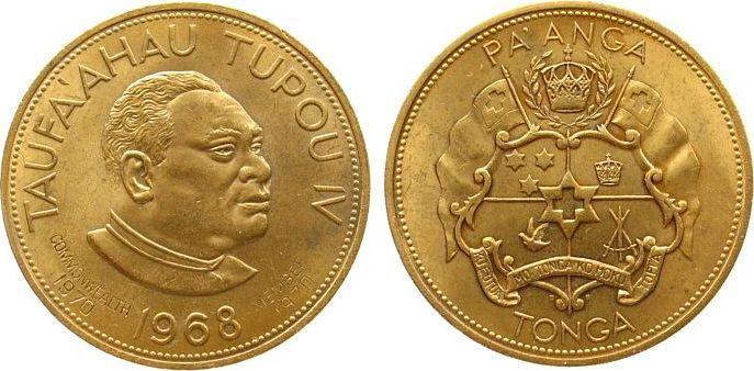 1 Paanga 1968 Tonga KN-Au Commonwealth Member vz-unc