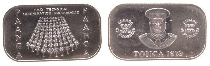 1 Paanga 1979 Tonga KN FAO vz-unc