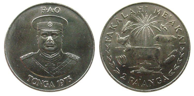 2 Paanga 1975 Tonga KN FAO vz-unc