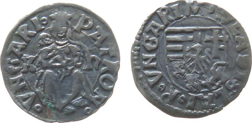 1 Denar 1490-1516 o.J. Ungarn Ag Wladislaw II (1490 - 1516), Kh, PATRON.VNGARI / ..VNGARI ss-vz