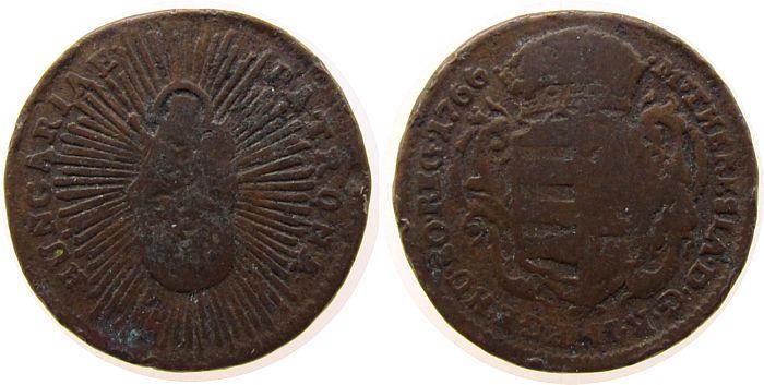 1 Denar 1766 Ungarn Ku Maria Theresia schön