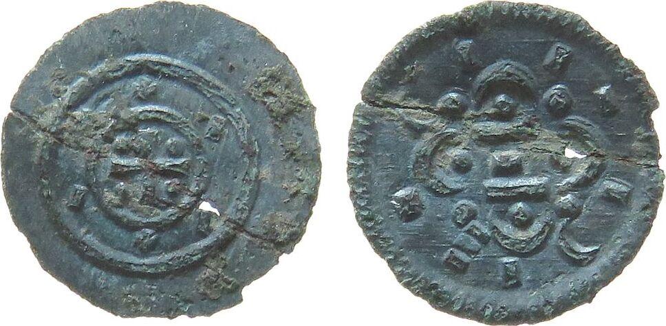 Denar 1095-16 o.J. Ungarn Ag Kolomon (1095-1116), ca. 0,13 Gramm, geknickt ss