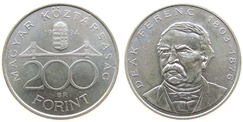 200 Forint 1994 Ungarn Ag Deak Ferenc vz