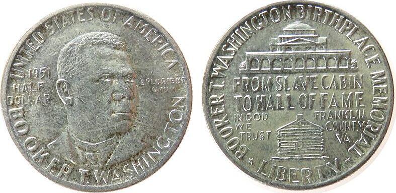 1/2 Dollar 1951 USA Ag B.T. Washington unz