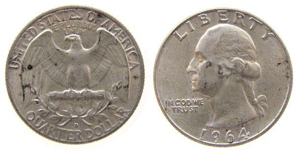 1/4 Dollar 1964 USA Ag Washington, D (Denver) ss