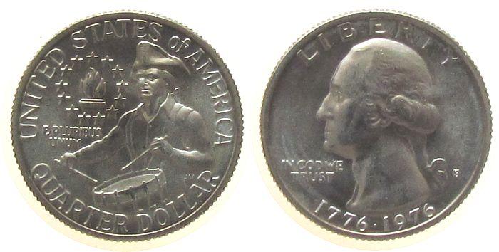 1/4 Dollar 1976 USA Ag Washington, S (San Francisco) unz
